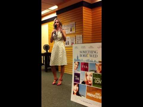 Emily Giffin talking about writing Something Borrowed