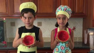 Watermelon Slushy Bowls | Easy kids recipe | Kids cooking show