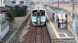 八戸線 キハE130系433D 長苗代駅発車 2019年3月4日