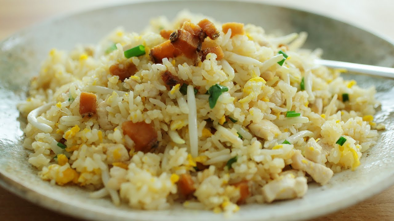 Salted fish fried rice youtube for Fish fried rice