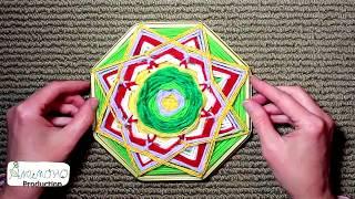 Mandala * Немного не по теме: мандала из ниток и подставочки от торта