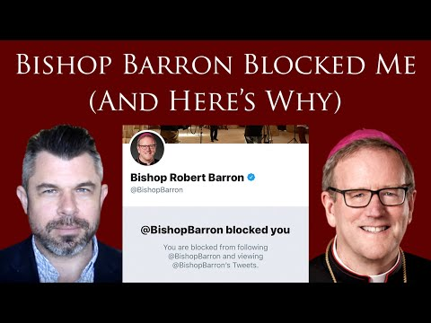 Bishop Barron Blocked Me (And Here's Why)