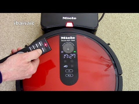 Miele Scout RX1 Red Robotic Vacuum Cleaner Demonstration & Review