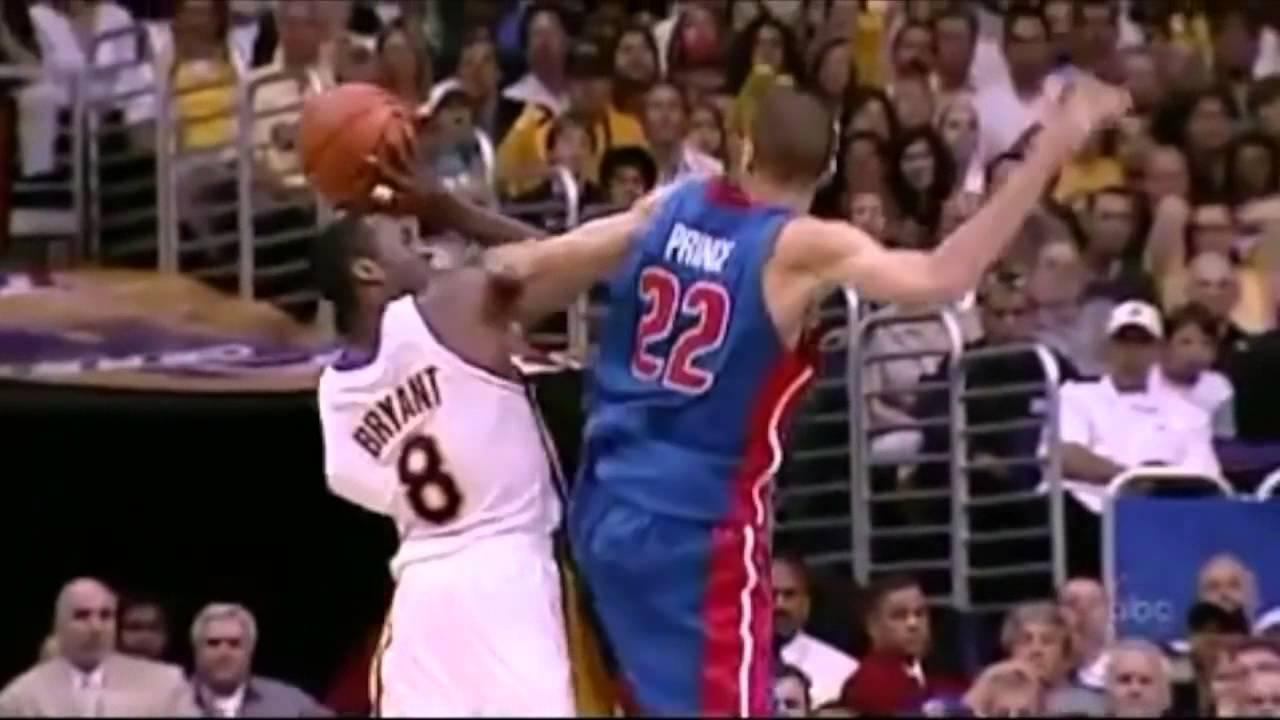 Tayshaun Prince locks down Kobe Bryant 2004 Finals Game 1