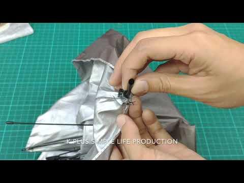 傘又壞了?不花錢超實用修傘小技巧 How to fix an umbrella with straw best way to recycle