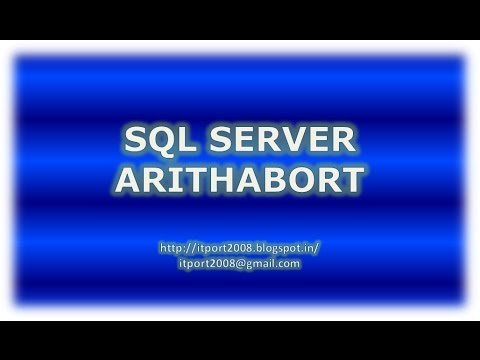 ARITHABORT in SQL Server