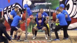 Чемпионат России по пауэрлифтингу. Мужчины до 105 кг. Приседание.