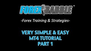 Forex Trading: MT4 Tutorial (In Layman's Terms) Part 1 - Yusef Scott