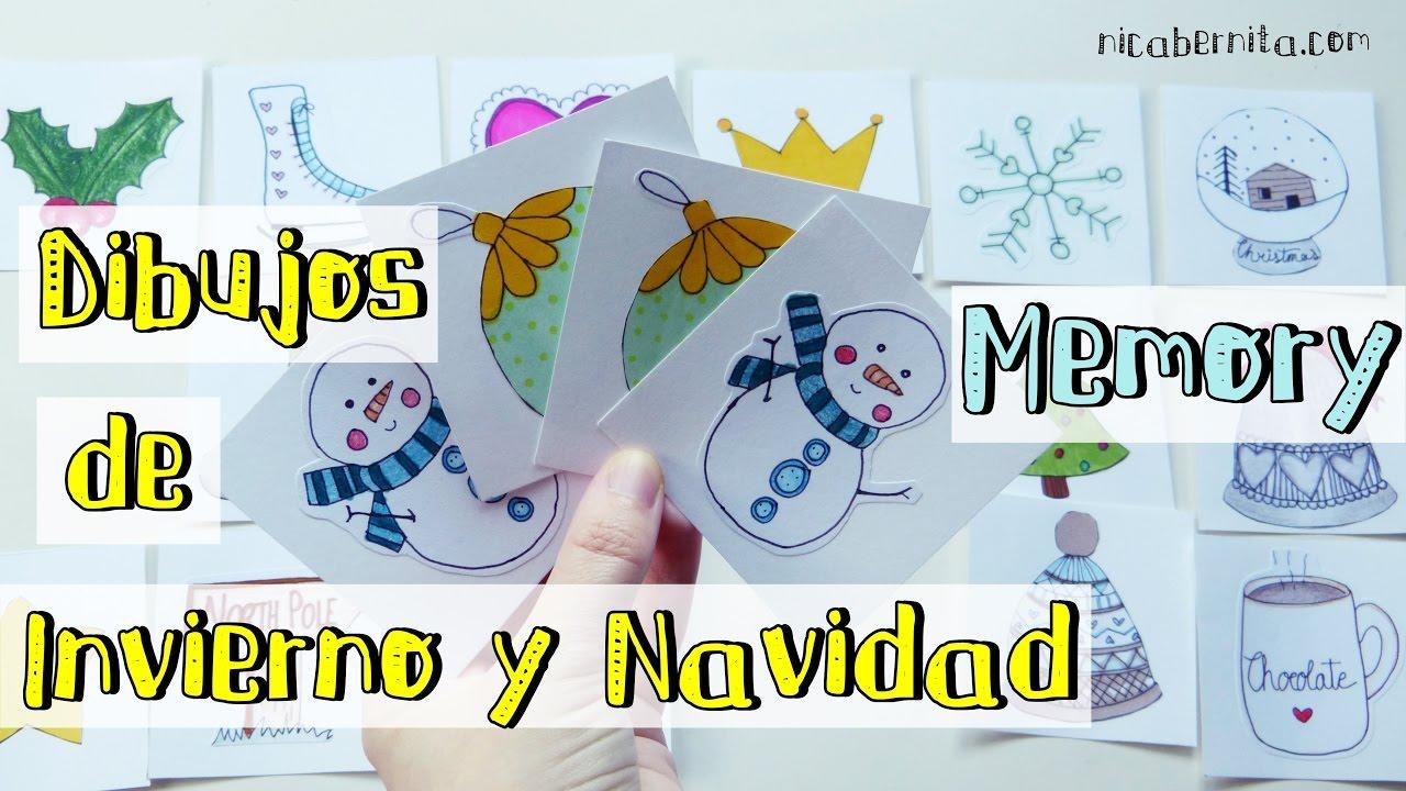 Juego De Mesa Casero Con Dibujos De Invierno Y Dibujos De Navidad Para Colorear Nica Bernita