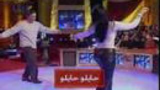 egyptian actress Somaya el Khashab dancing with maged elmasr
