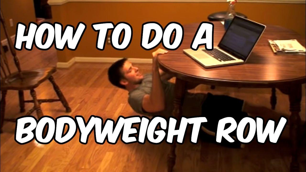How To Do A Bodyweight Row Nerd Fitness Youtube