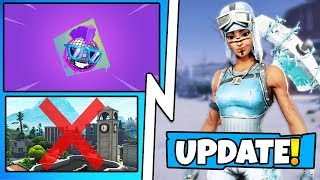 *NEW* Fortnite Update! Frost Raider Skin, Tilted Towers DESTROYED, How to FREE Unlock Walmart Spray!