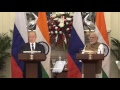Exchange of Agreements and Press Statements: Visit of President of the Russian Federation to India