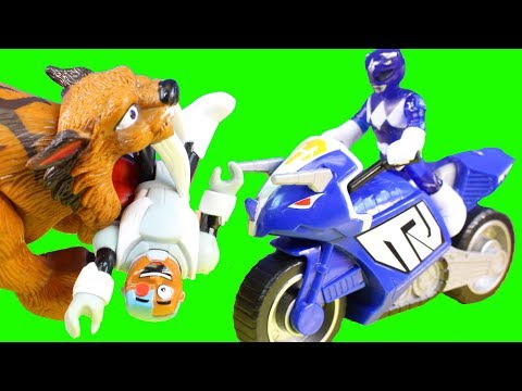 Imaginext Teen Titans Go Cyborg Gets Eaten By Sabretooth Tiger Power Ranges Come To Rescue