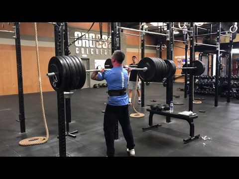 180kg Front Squat from Rob Knight at CrossFit Colchester