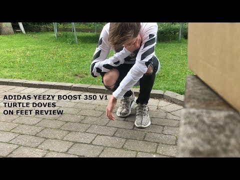 ADIDAS YEEZY BOOST 350 TURTLE DOVE ON FEET REVIEW