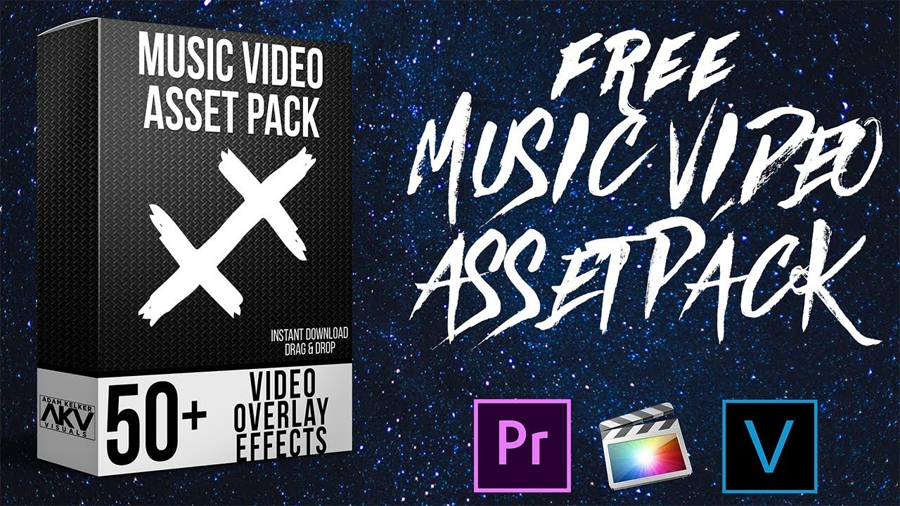FREE MUSIC VIDEO ASSET PACK | ADOBE PREMIERE PRO AND FINAL CUT PRO X