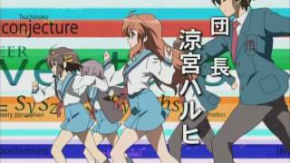 Repeat youtube video Super Driver AMV -  Suzumiya Haruhi Season 2 Full OP Song + Video