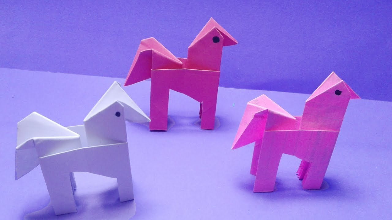 Origami Horse How To Make Easy Origami Horse Step By Step