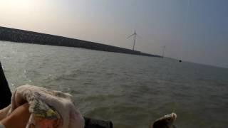 釣魚趣-鹿港500米長堤 落入前打/Like fishing fisherman/釣りの楽しみ 前打ち
