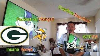 Packers vs Vikings Reaction! (Crazy O.T.!)