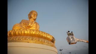 The President of CTA Unveils New Buddha Statue
