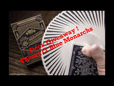1,000 Subscribers Deck Giveaway Theory11 Blue Monarchs