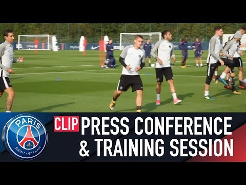 PARIS - BAYERN : PRESS CONFERENCE AND TRAINING SESSION (FR & ENG)