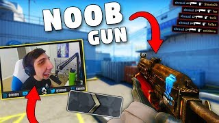 CS:GO - When PROS use SILVER GUNS!! ft. Shroud, GeT_RiGhT, olofmeister & More!