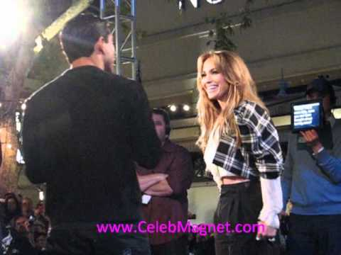 Jennifer Lopez Interviewed By Mario Lopez Of Extra @ The Grove