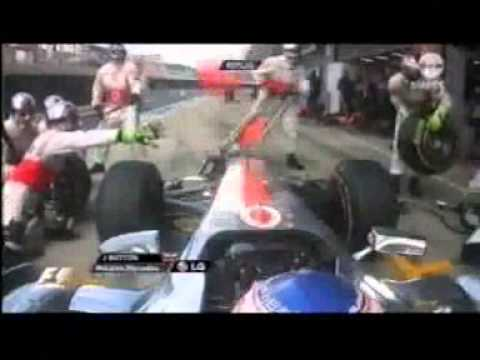 F1 2011 British Grand Prix - Jenson Button - Pit stop fail