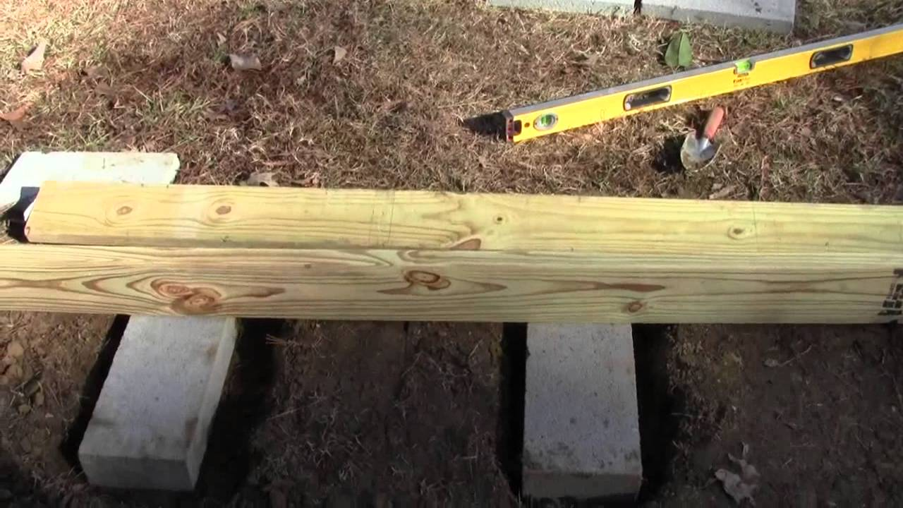Shed Ramp Foundation And Framework 2 Of 3 Youtube
