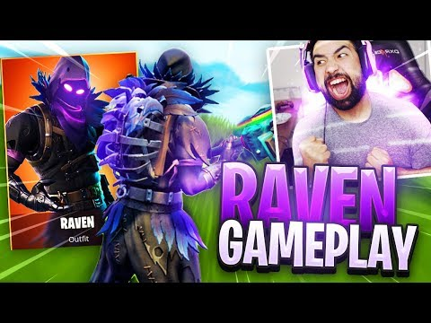 NEW Fortnite RAVEN Skin Gameplay