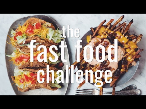 THE FAST FOOD CHALLENGE (VEGAN) | hot for food