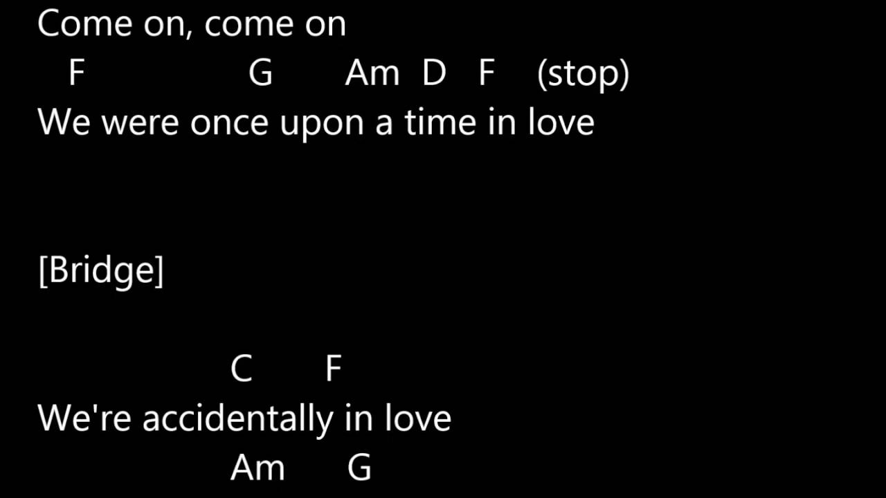 Counting Crows Accidentally In Love Sound Lyrics And Chords Youtube