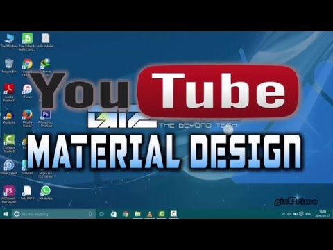 YouTube Material Design:How to Switch to YouTube's New Material Design!
