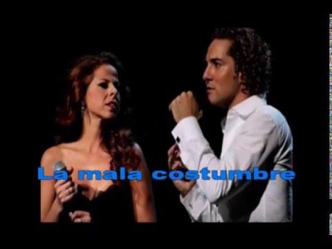 La mala costumbre - karaoke - Pastora Soler y David Bisbal
