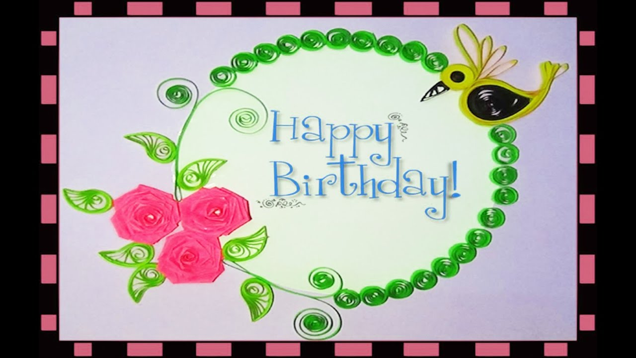 Quilling artwork how to make paper quilling birthday greeting quilling artwork how to make paper quilling birthday greeting cards youtube kristyandbryce Choice Image