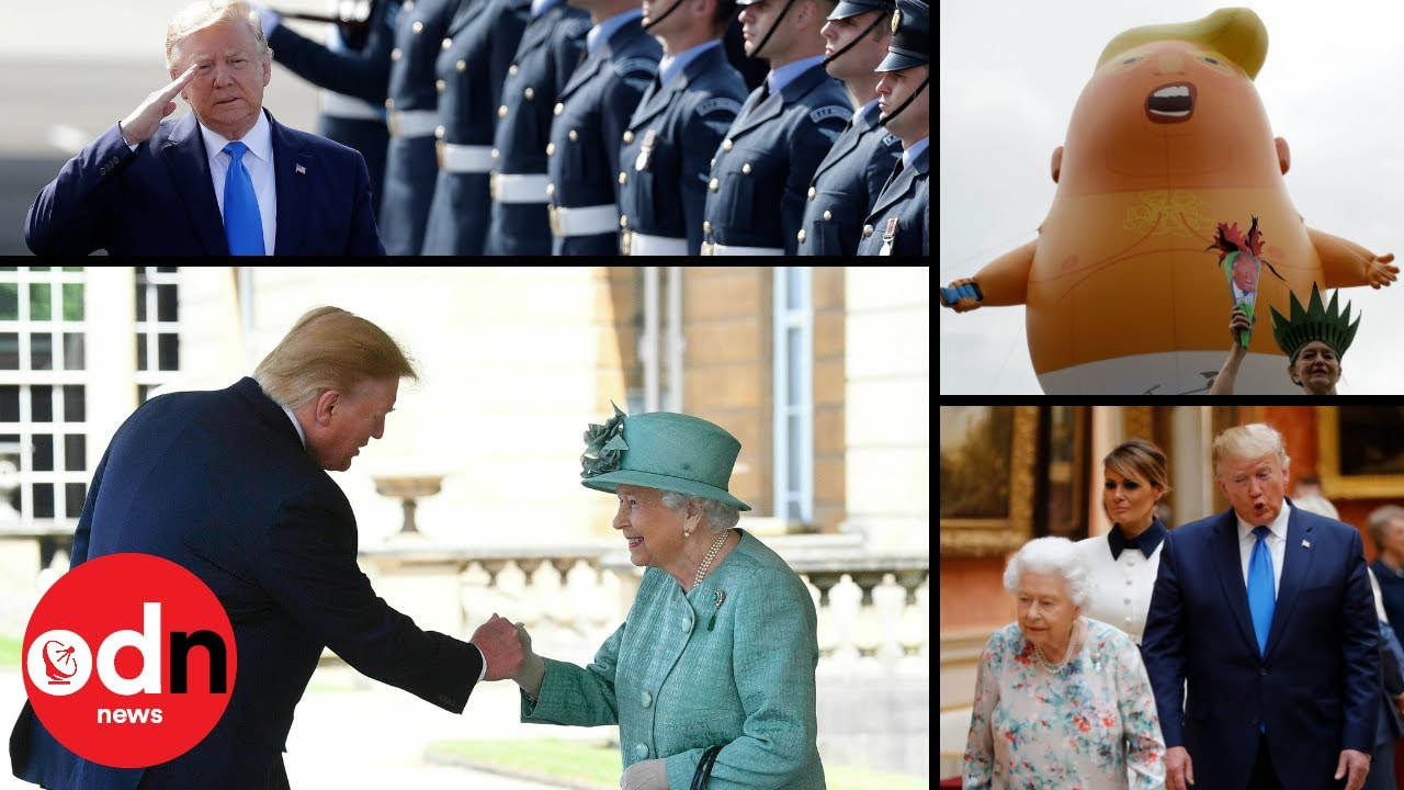Funny moments you missed from Donald Trump's state visit