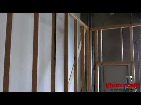 07 Vivid Tone Recording Studio Build - Day 1 Construction, framing