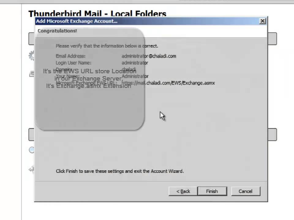 How-To Setup ThunderBird for Exchange Server 2010 Mail
