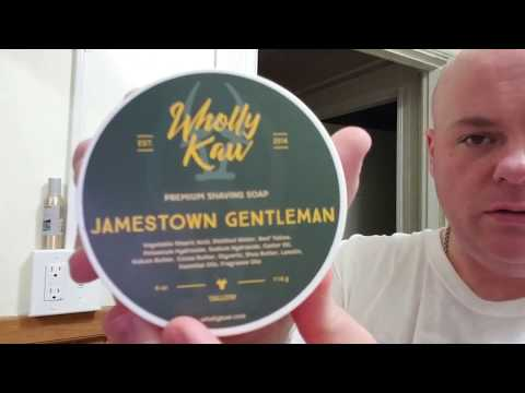 Wholly Kaw Jamestown Gentlemen shave soap review