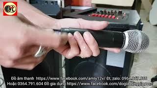 Loa tất cả trong một KTV 210 - loa liền công suất, liền vang, liền míc có bluetooth giá 4tr2 1 đôi