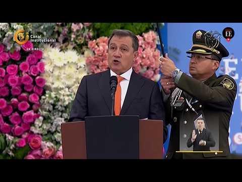 Discurso del presidente del Senado, Ernesto Macías, durante la posesión presidencial   El Espectador