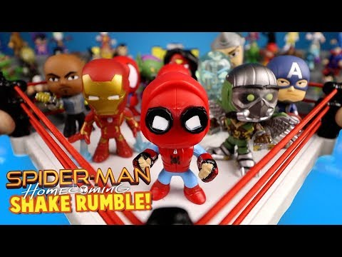 Spider-Man Homecoming Movie Shake Rumble with SpiderMan Mystery Minis by KIDCITY