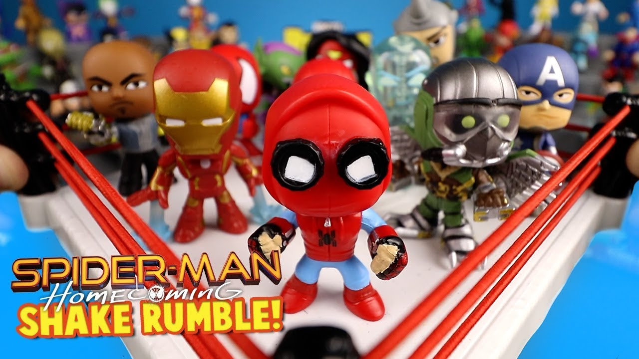 Spider-Man Homecoming Movie Shake Rumble With SpiderMan