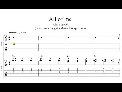 john legend all of me easy guitar lesson with notes tabs chords youtube. Black Bedroom Furniture Sets. Home Design Ideas