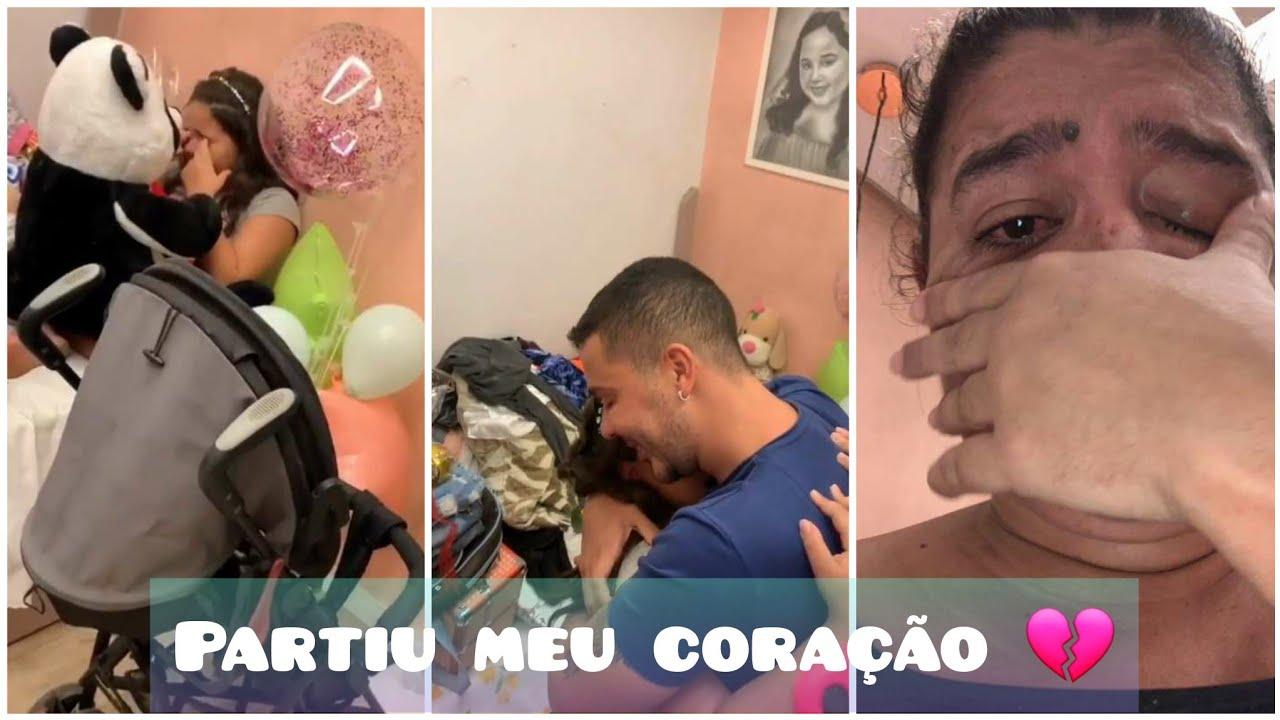 Brenda Ysadora chora porque Carlinhos não foi no seu aniversário