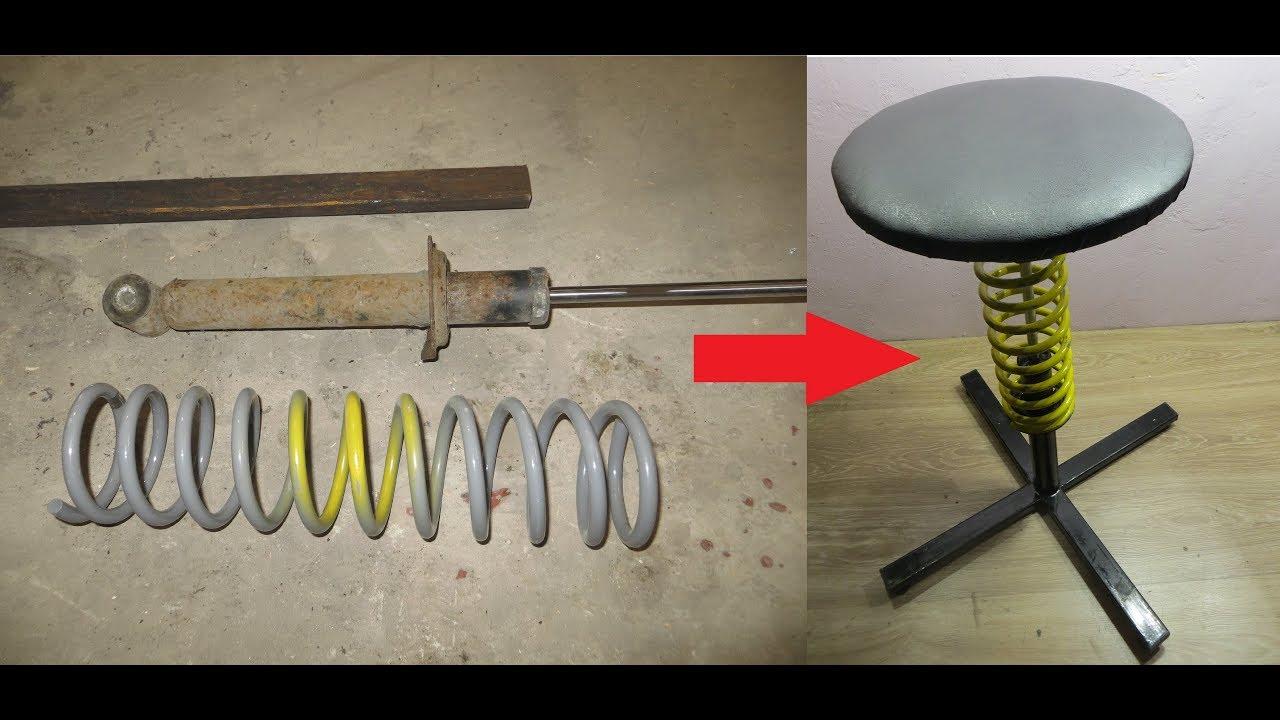 Не выбрасывайте старые стойки от автомобиля! Интересная самоделка из стоек и металлолома.