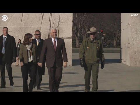 VP Pence, second lady visit MLK Memorial